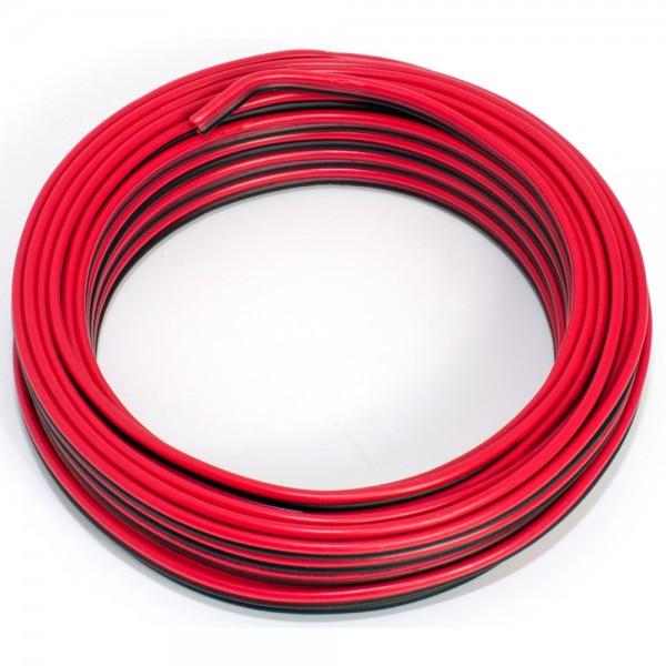 SeKi Lautsprecherkabel CCA, 0,75mm², 10m, rot-schwarz