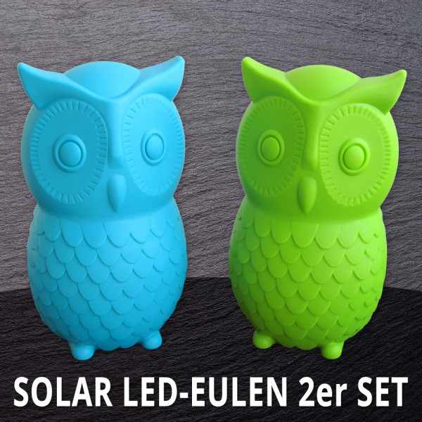 Solar LED Eulen - 2er Set