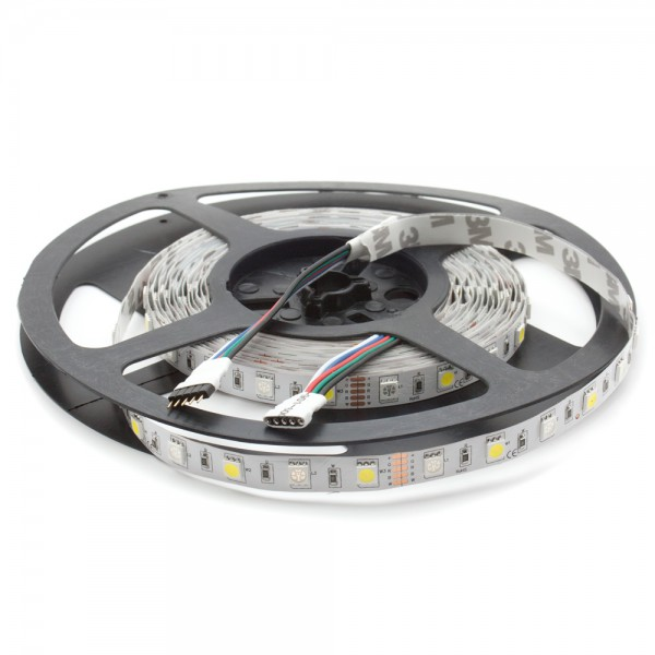 LED RGBW Leiste 12V, 5m, 60 LED/m, IP20