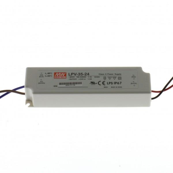LED Schaltnetzteil LPV-35-24 1,5A 24V